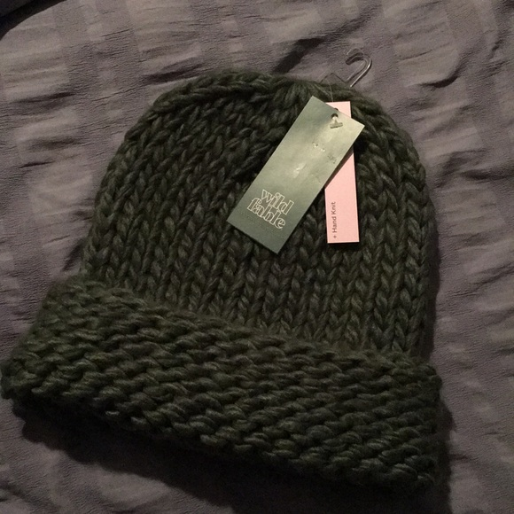 5c53a5a99d09 Olive green beanie. NWT. wild fable